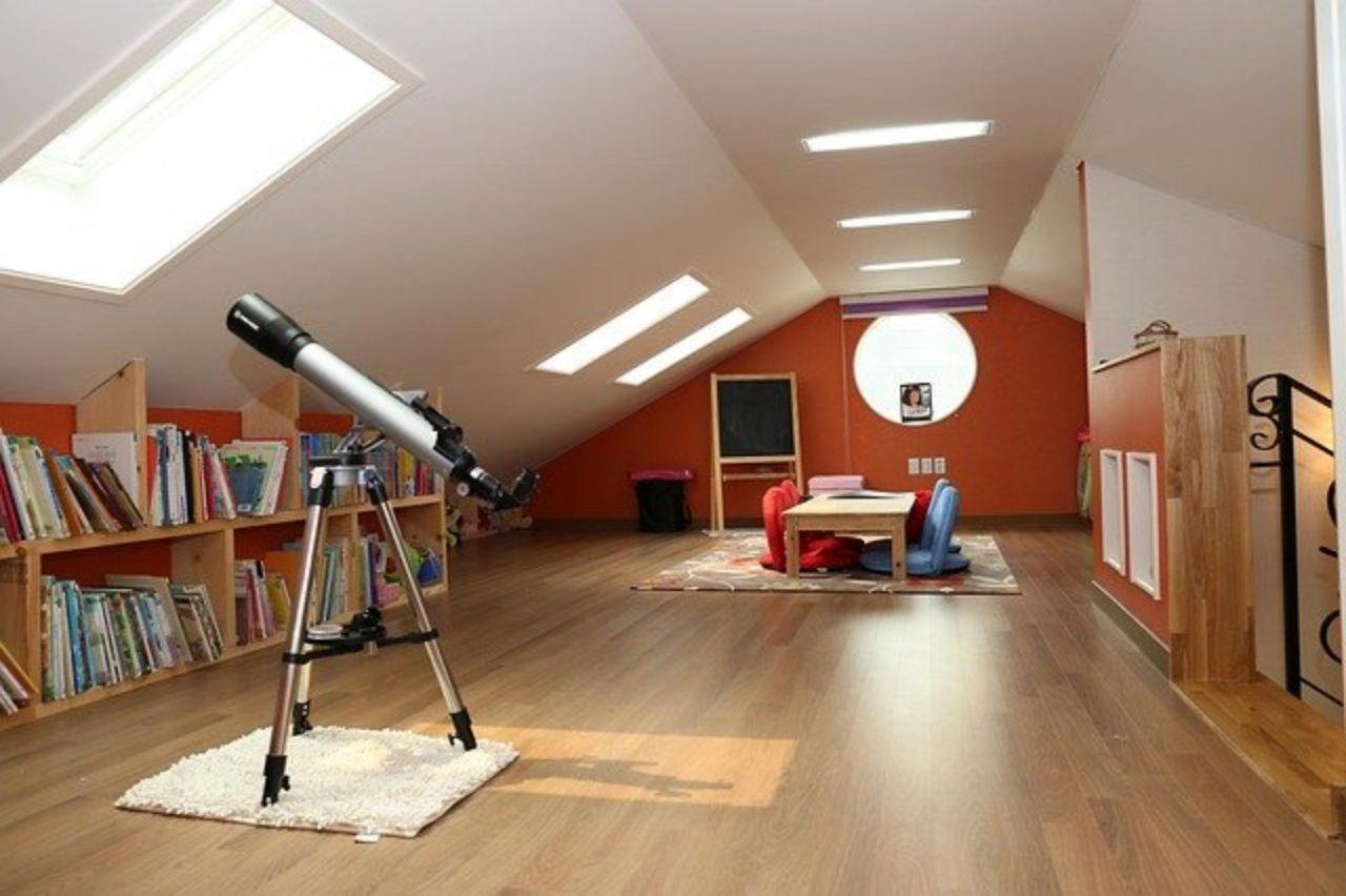 Pokój na strychu dla nastolatka